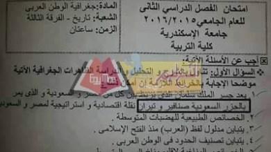 Photo of جامعة الإسكندرية تحيل من يقر بمصرية تيران وصنافير للتحقيق وتترك من يقر بأنها سعودية