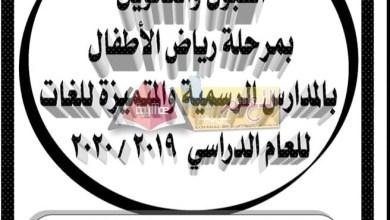 Photo of شروط القبول والتحويل بمرحلة رياض الأطفال بمدارس اللغات بالمنيا 2019 / 2020