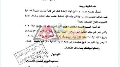 Photo of بالمستندات   إلغاء ٣ قرارات وزارية مجحفة للمعلمين … تعرف عليها