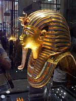Masque funéraire de Toutankhamon  - vue latéral