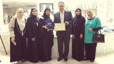 المكتب الثقافى المصرى يزور الأطفال المرضى بمستشفى خليفة