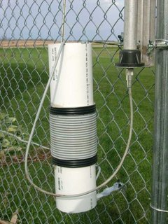 HF 18AVT Vertical Fence Mounted with an UglyBalun