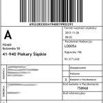 etykieta nadawcza do paczkomatu InPost