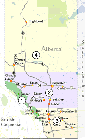 Regions of Alberta  eh Canada Travel