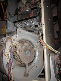 Blower motor cleaning on a gas furnace Portland, OR by