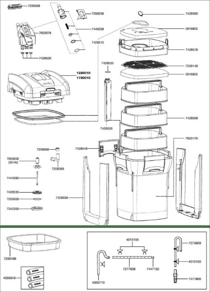 spare parts/accessories professionel 3 1200XL(2080)-EHEIM