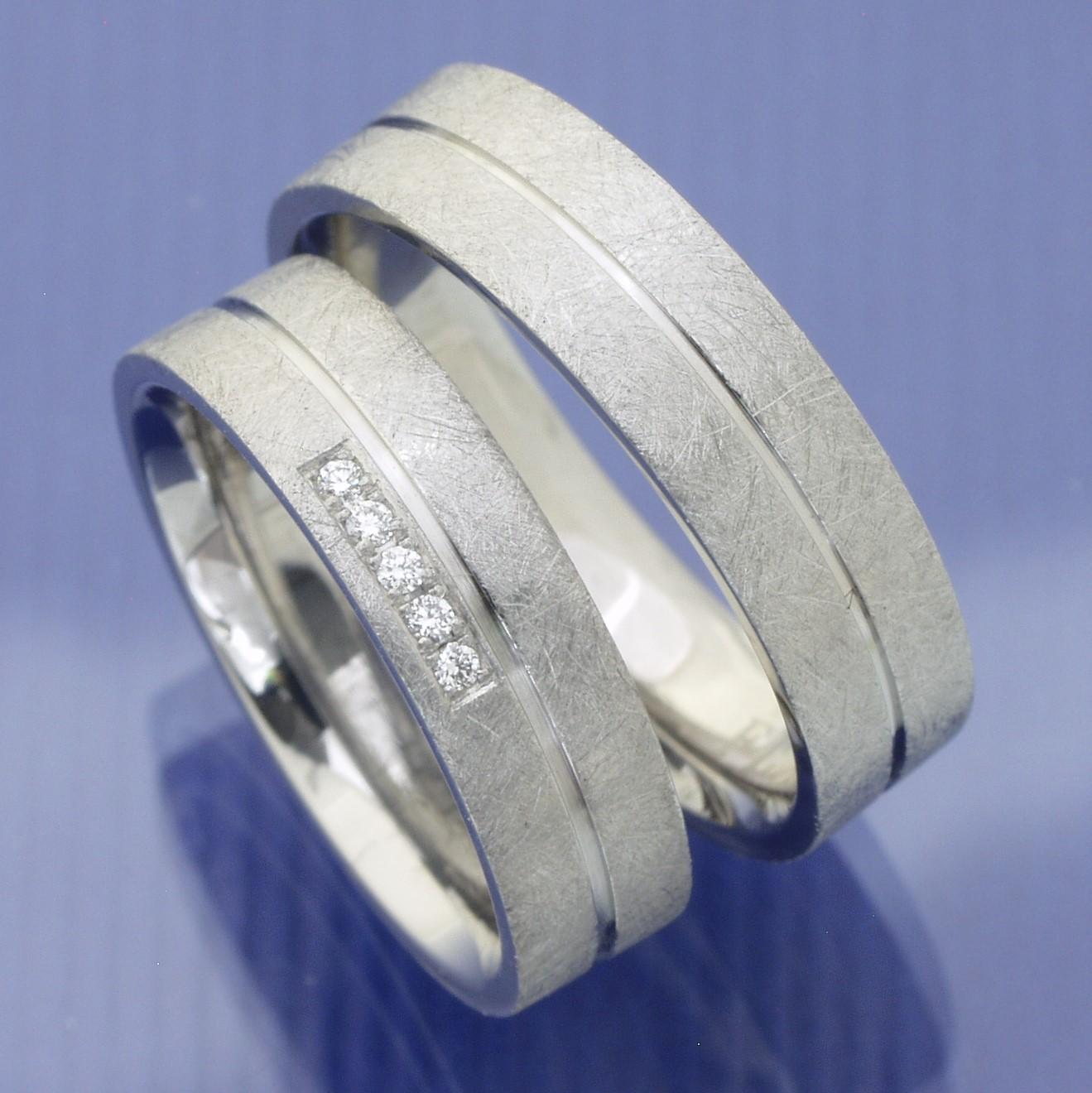 EheringeShop  Verlobungsringe  Partnerringe aus Edelstahl mit Brillanten P3154468