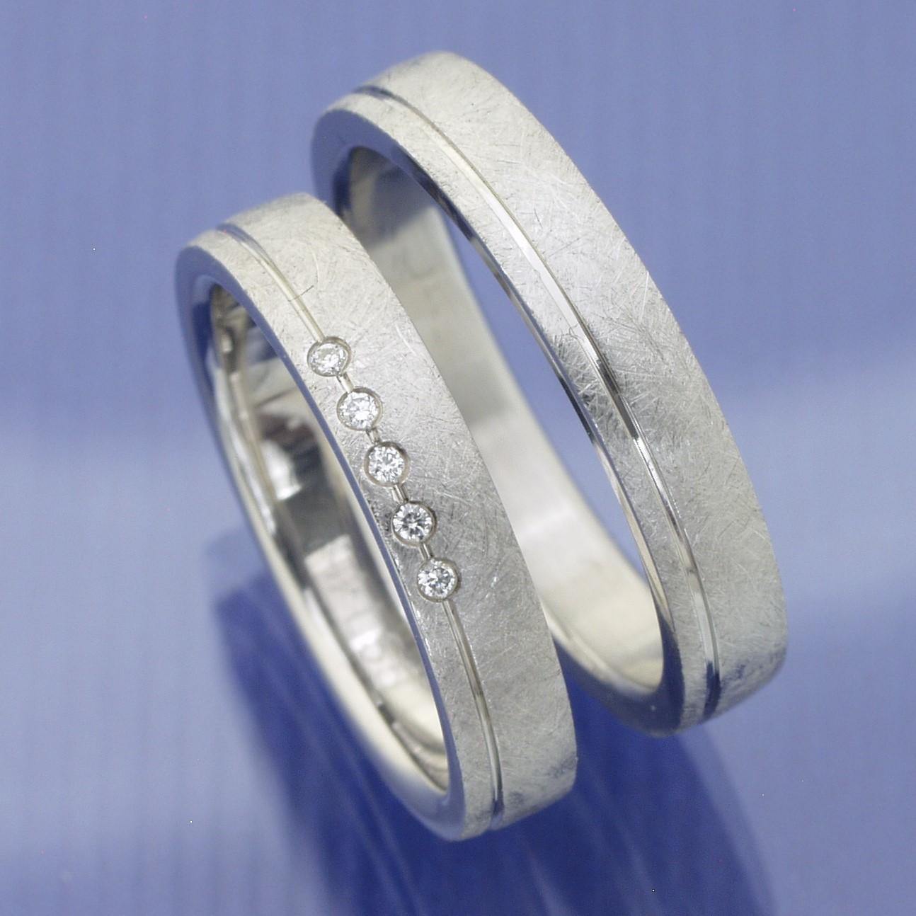 EheringeShop  Verlobungsringe  Partnerringe aus Edelstahl mit Brillanten P3154472