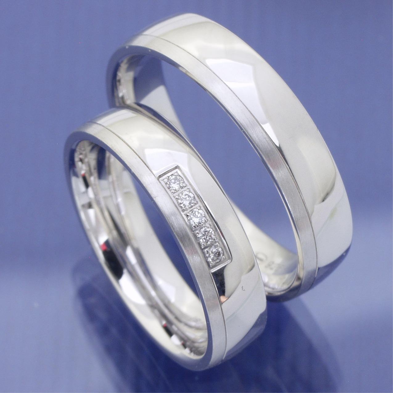 EheringeShop  Partnerringe Eheringe aus Silber mit