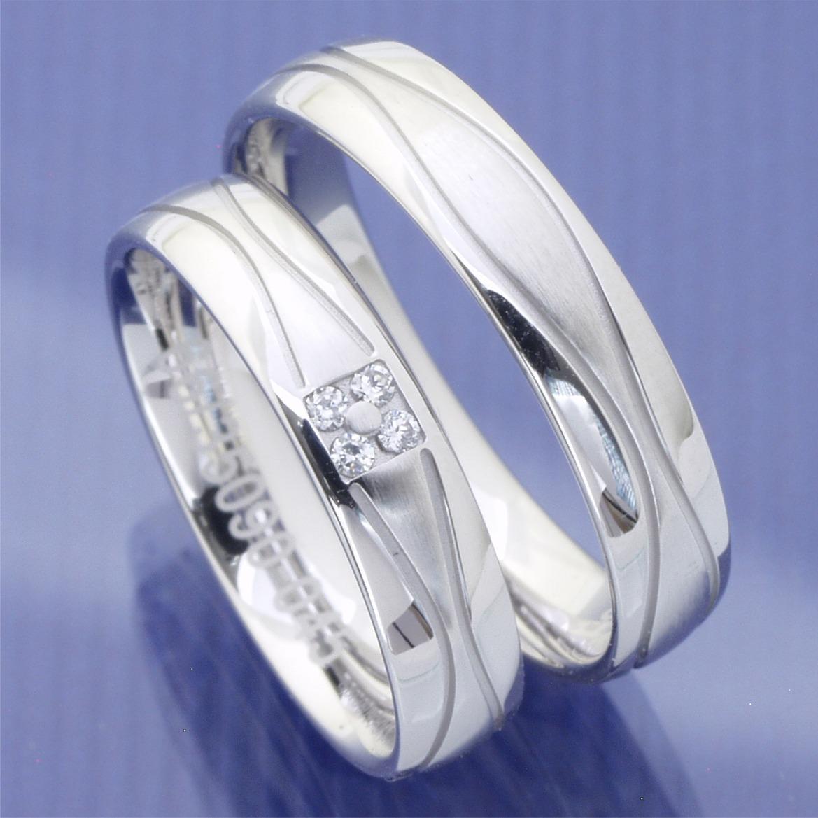 EheringeShop  Infinity Trauringe 585 Weissgold P4223615