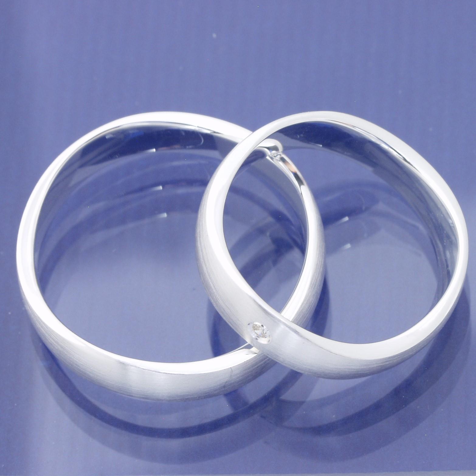 EheringeShop  Freundschaftsringe Verlobungsringe aus 925 Silber mit Zirkonia