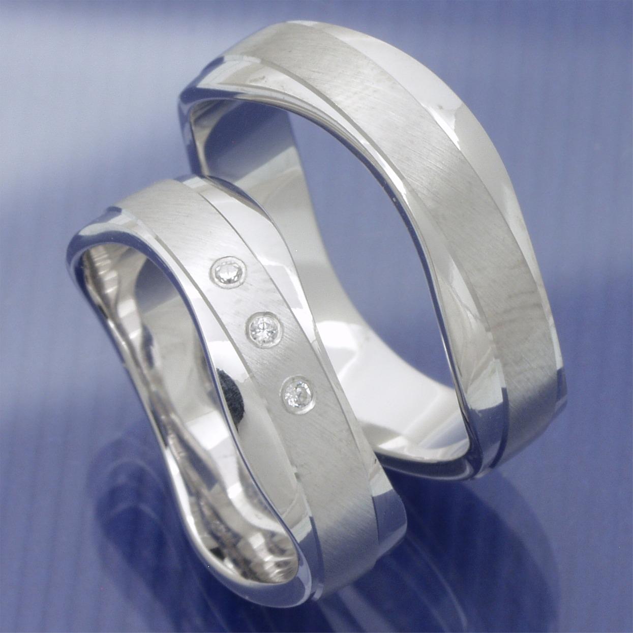 EheringeShop  Silber Partnerringe Verlobungsringe Modell Brandon PB300803