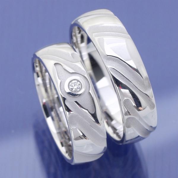 EheringeShop  Hochzeitsringe aus Silber mit Brillanten