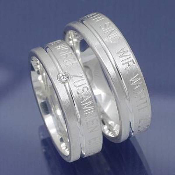 EheringeShop  Partnerringe aus 925 Silber mit eigener