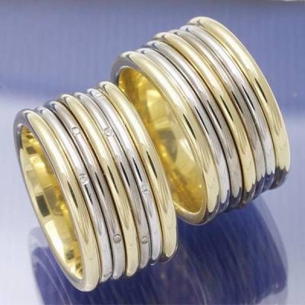 EheringeShop  12 mm breite Trauringe aus Gelbgold und
