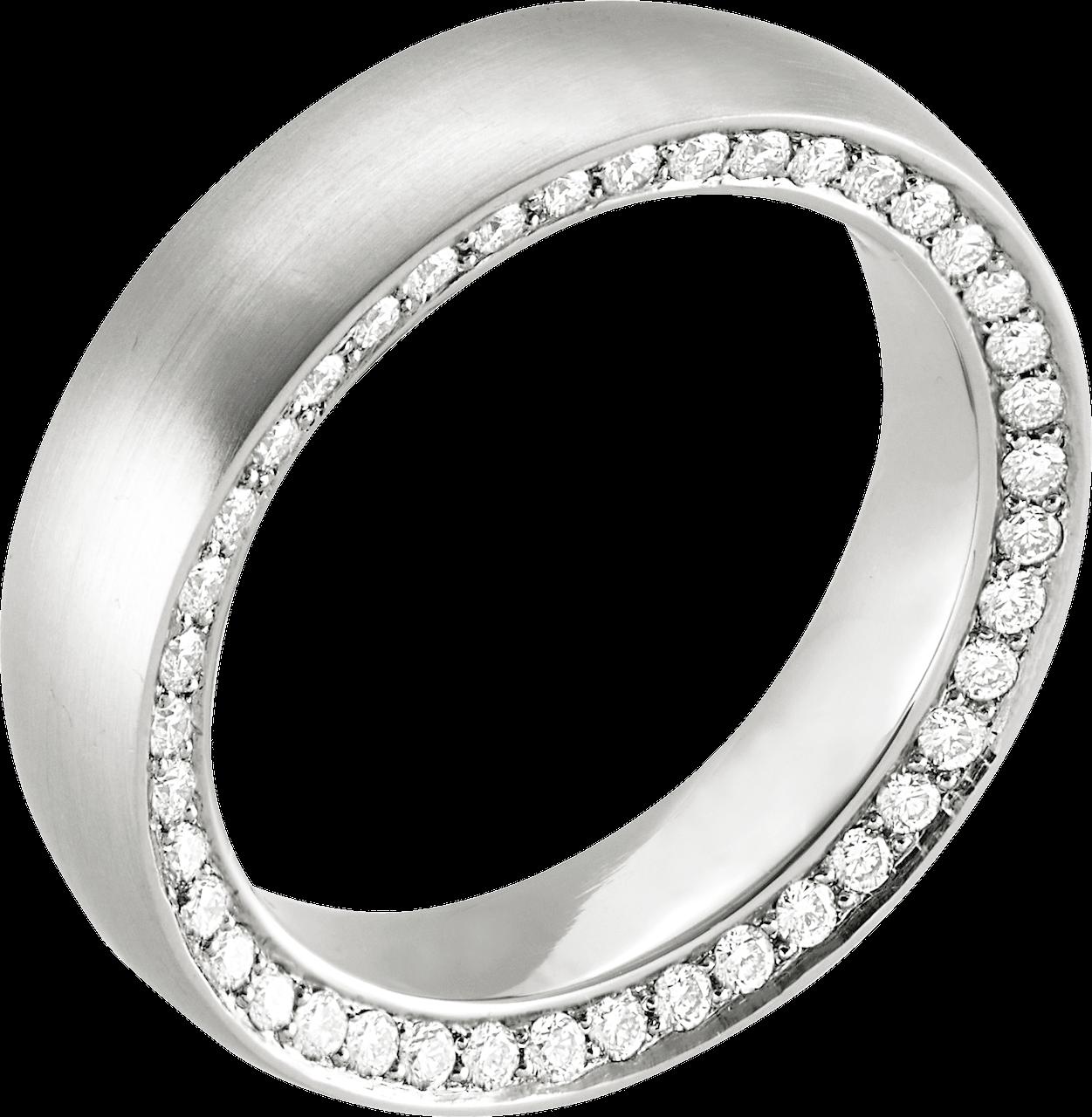 Platinring mit 84 seitlich eingefassten Diamanten