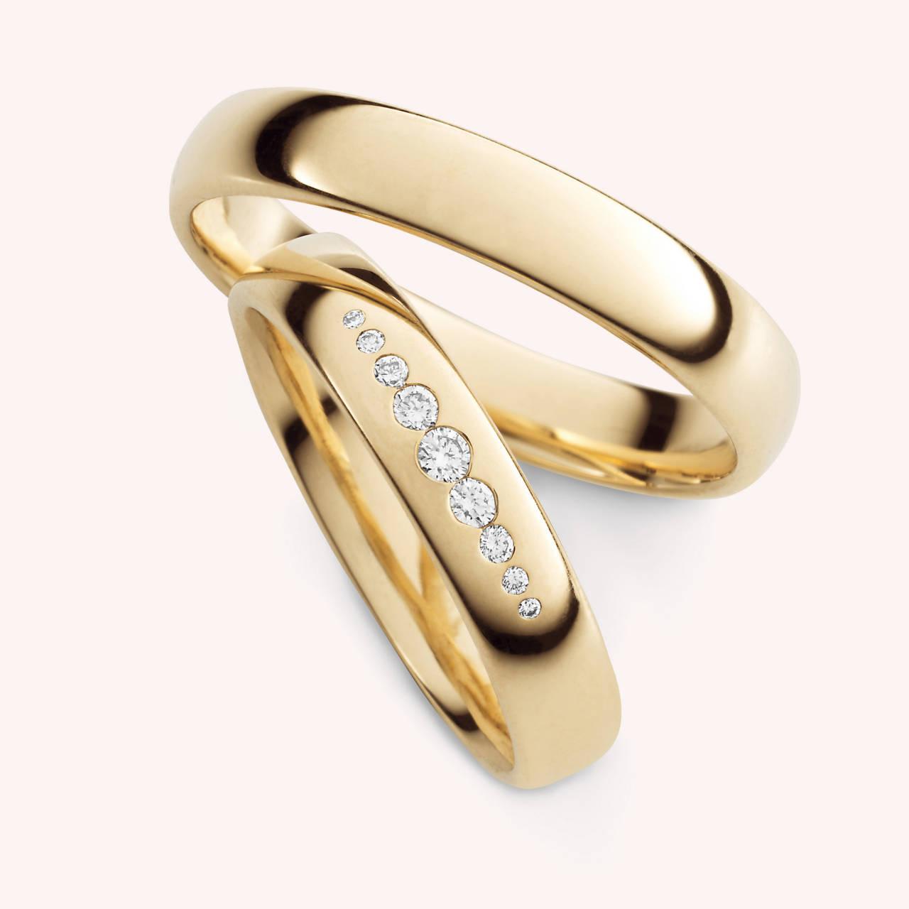 TrendRosgold Eheringe mit Diamanten 30334  EHERINGEde