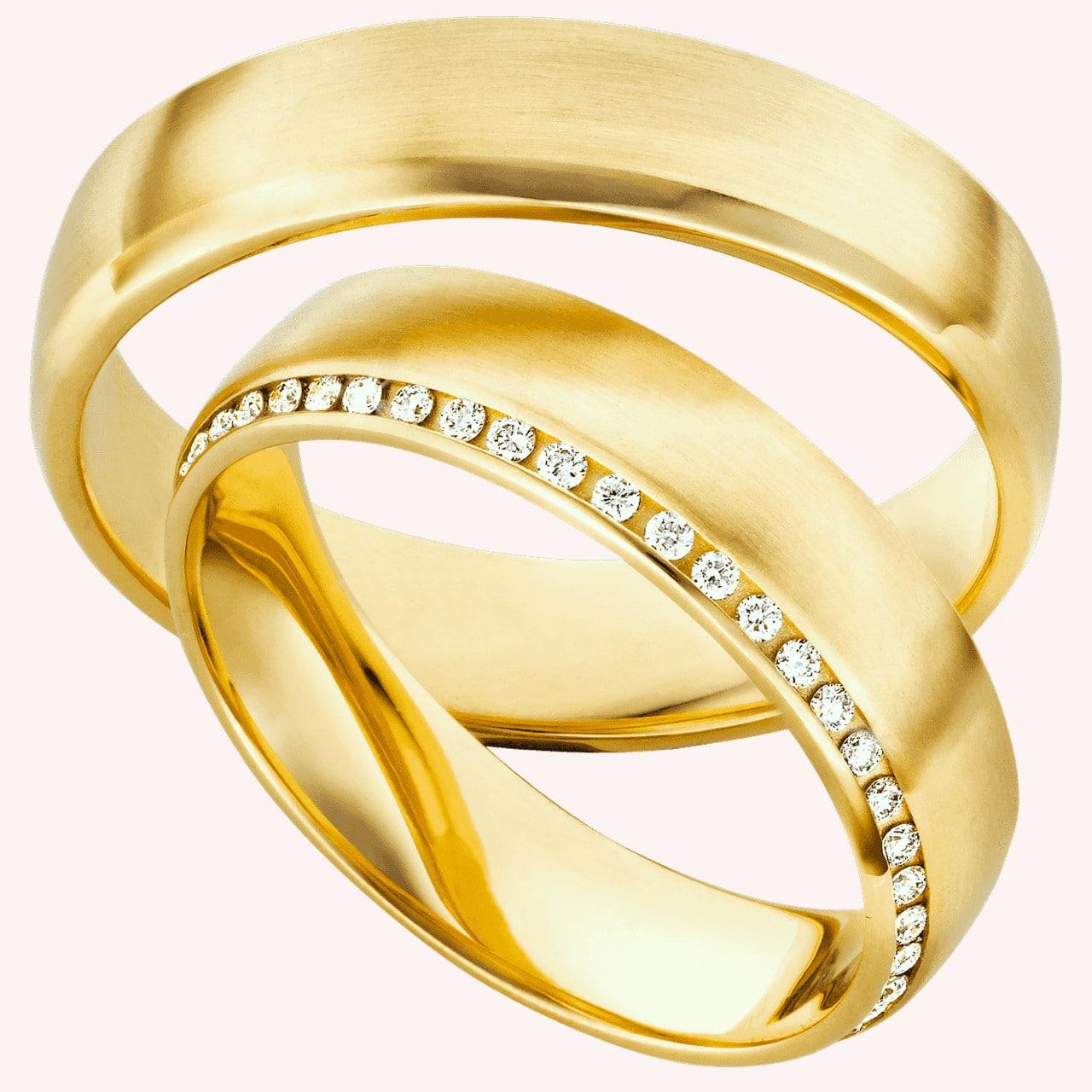GelbgoldRinge im Diamanten Vollbesatz 70249  EHERINGEde