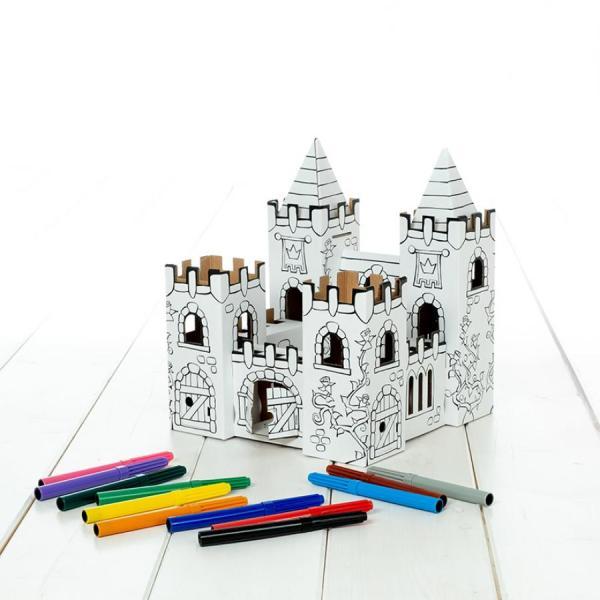 palácio das rosas, para montar e pintar. Com 12 canetas incluidas