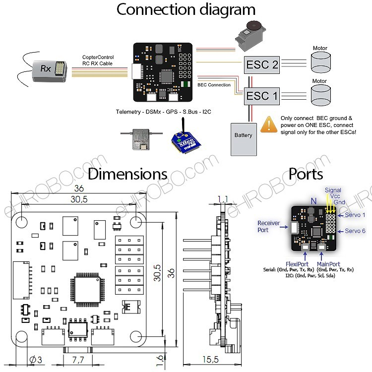 Quadcopter Flight Control Wiring Diagram. Wiring. Wiring