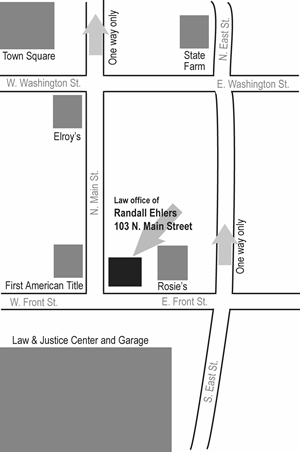 Location of Millaer Davis Law Office