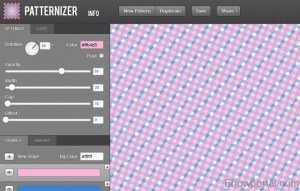 Draw a custom pattern with online patternizer tool