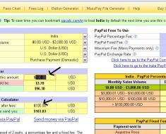 PayPal Fee Calculator