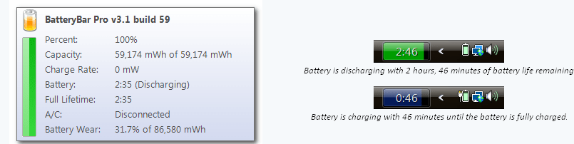 BatteryBar  the most accurate battery meter for Windows