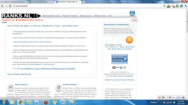 Ranks NL Webmaster Tools