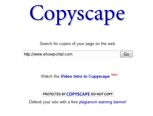 Copyscape Plagiarism Checker - Duplicate Content Detection Software