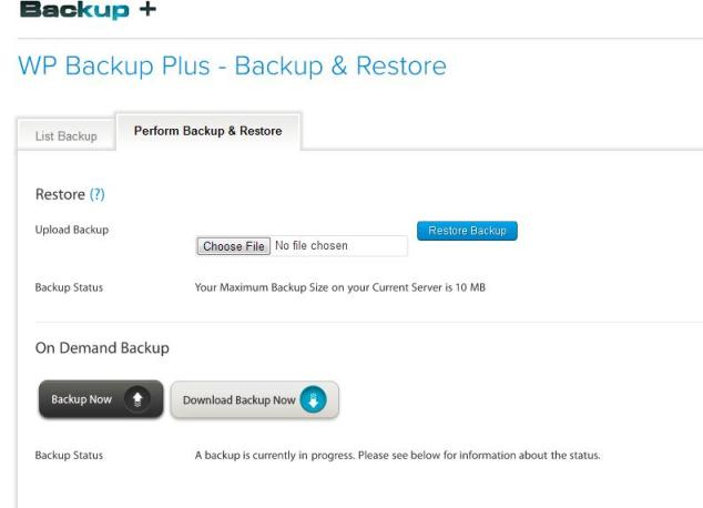WP Backup Plus  Full Automated WordPress Backup