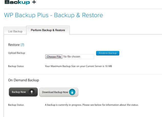 WP Backup Plus  Full Automated WordPress Backup