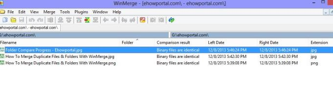 Identical Files Merging with Winmerge