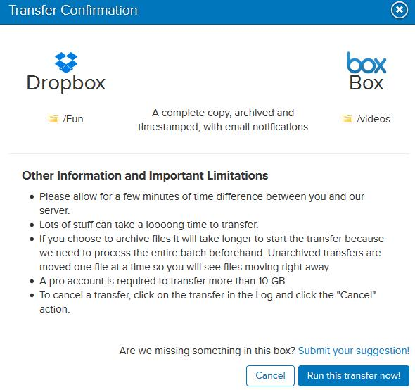 Compress Dropbox Files & Transfer it to Box online
