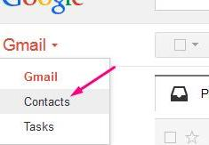 Exporting Gmail Contacts