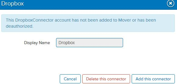 Deauthorizing mover account
