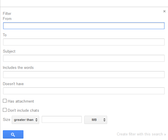 Creatign Gmail Forwarding Filter