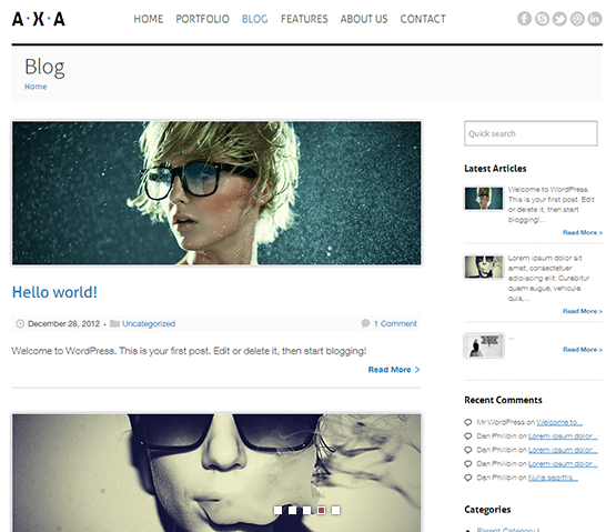 AXA – Responsive WordPress Theme