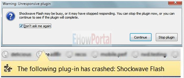 Fix Shockwave Flash Crashed