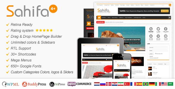 Sahifa - Responsive WordPress News,Magazine,Blog