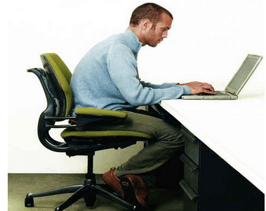 Bad Sitting Position to use Laptop
