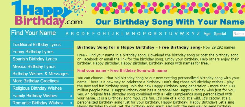 Happy Birthday Audio Download