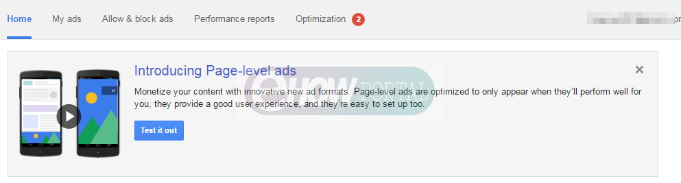 Google Adsense Page Level Ads