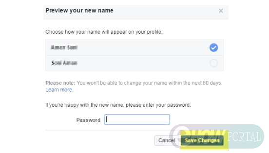 how do i change my name on facebook