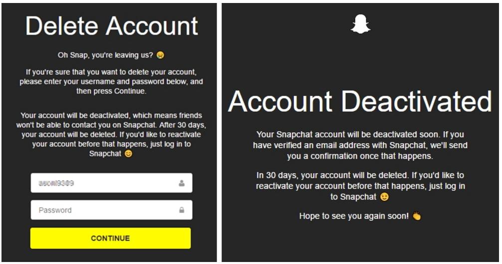 how to delete snapchat