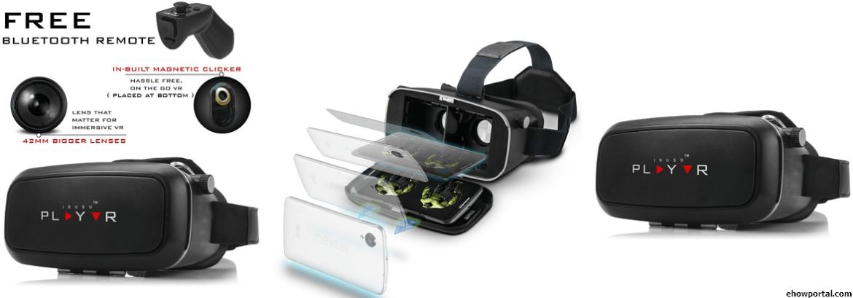 IRUSU PLAYVR PLUS VR Headset with Bluetooth remote & Clicker
