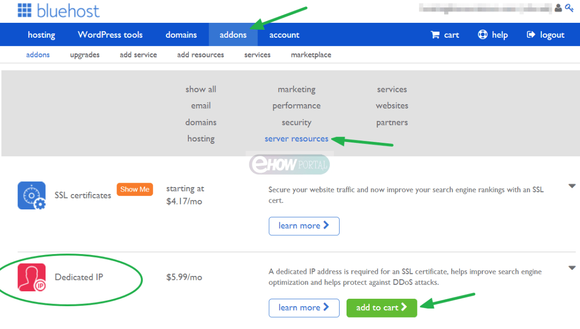 How to Purchase Bluehost Dedicated IP
