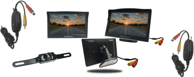 Tadibrothers Wireless License Plate Backup Camera