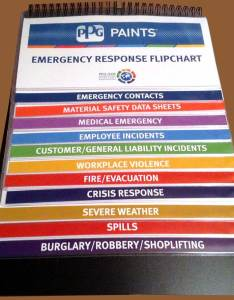 Ppg vinyl sleeved flip chart also emergency procedures charts send your content we do the rest rh ehsconsultz