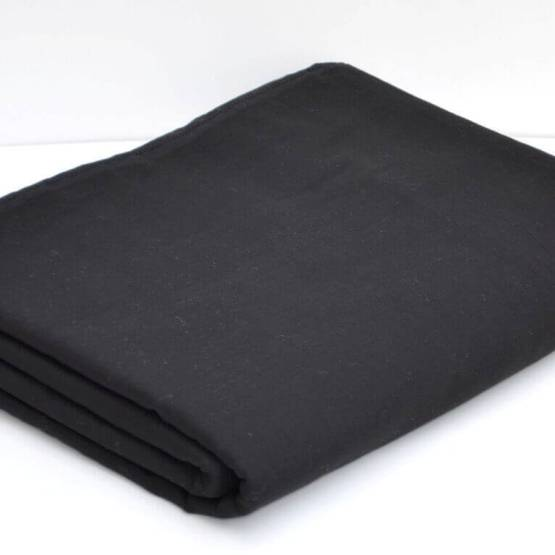 Buy Black Color Full Voile Fabric
